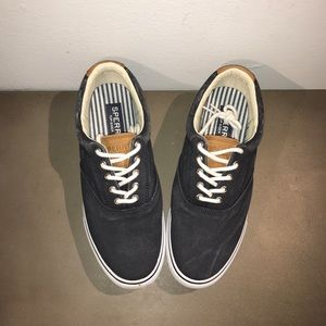 SPERRY SALTWATER CANVAS STRIPER LL CVO NAVY 10 US